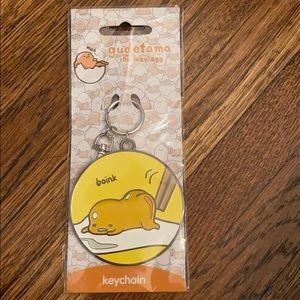 🍃 3/$30 // Gudetama lazy egg metal boink keychain